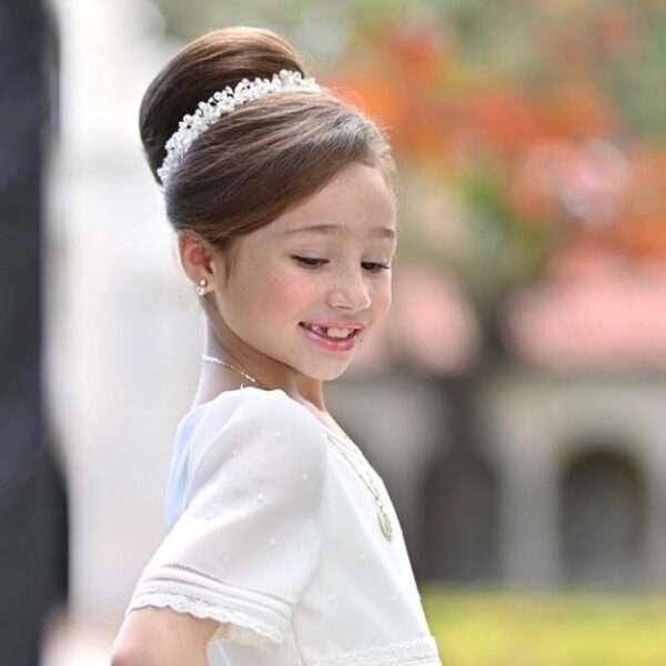 peinados para niñas de comunion