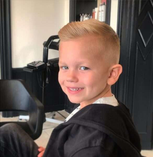 precioso peinado para niño