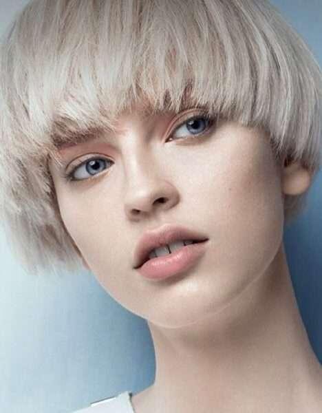 corte de cabello hongo desvanecido para mujer