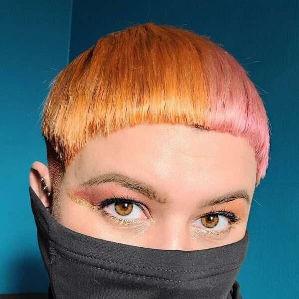 corte de pelo de hongo