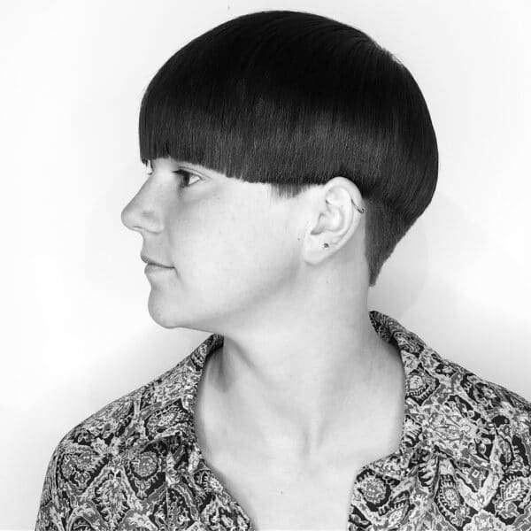 corte de cabello tipo hongo
