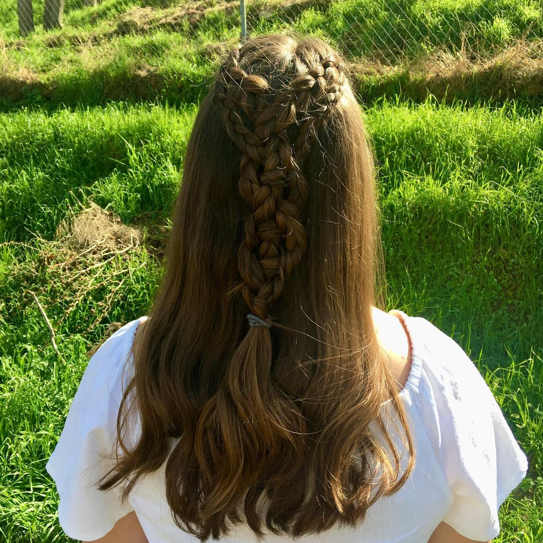 fryzury na wesele loki z warkoczem