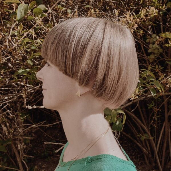 corte de cabello de hongo