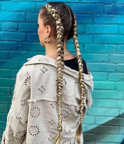 proste fryzury z warkoczem