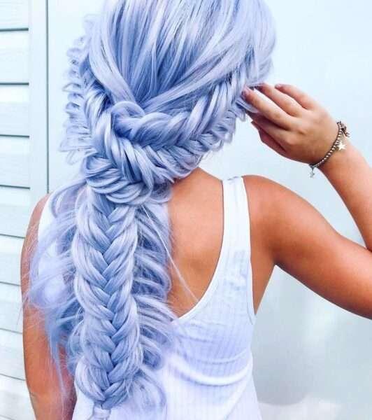 fryzury z warkoczem kłosem