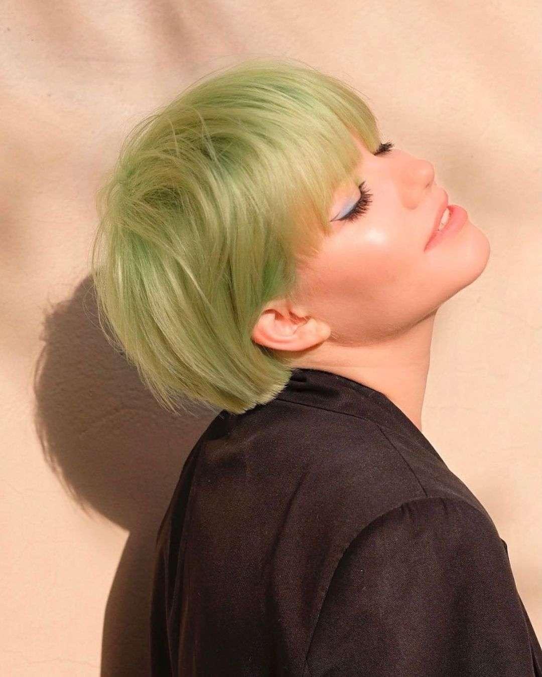 fryzura na pieczarkę zdjęcia