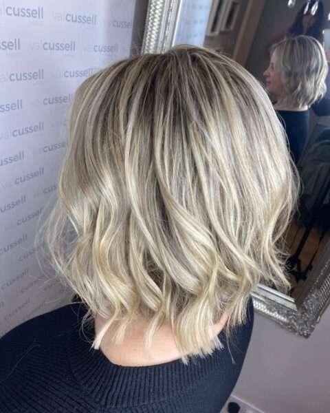 corte de pelo bob blanco