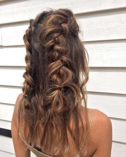 fryzury upięcia z warkoczem