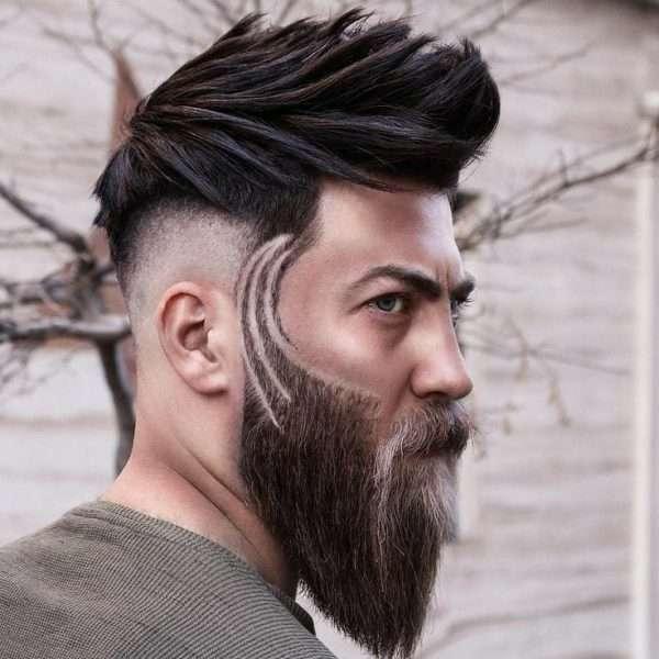 fryzury męskie średnie z grzywką