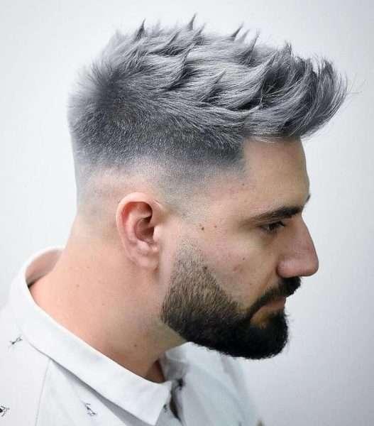 fryzury męskie krótkie boki długa góra