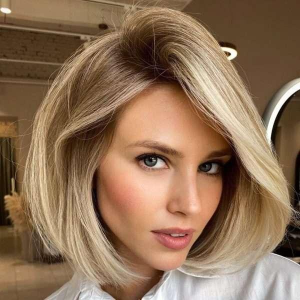 perfecto peinado corto para cabello fino a rubio